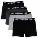4PACK pánské boxerky Umbro vícebarevné (UMUM0315)