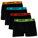 4PACK pánské boxerky Umbro černé (UMUM0318)