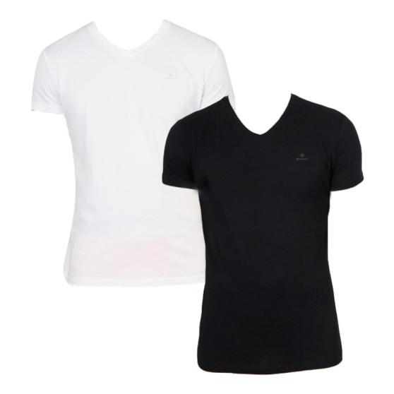 2PACK pánské tričko Gant černo/bílé (901002118-111)