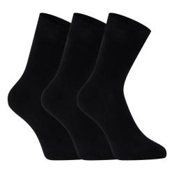 3PACK ponožky Lonka bambusové černé (Debob)