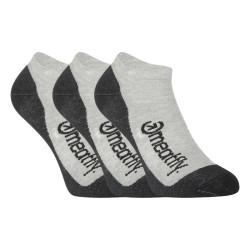 3PACK ponožky Meatfly vícebarevné (Boot Grey)