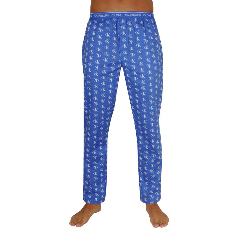 Pánské kalhoty na spaní CK ONE modré (NM1869E-J8W) M