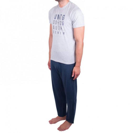 Pánské pyžamo Molvy modro šedé (AV-4310)