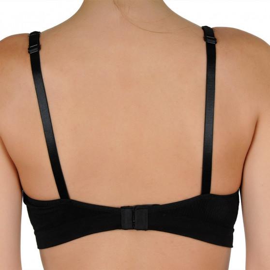 Dámská podprsenka Gina vyztužená s kosticemi černá (07019)