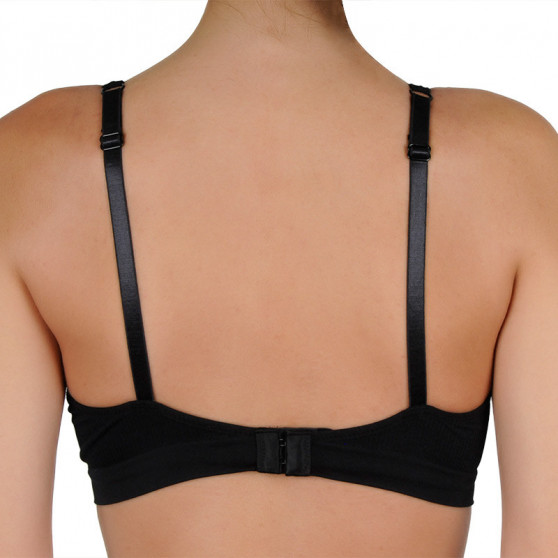 Dámská podprsenka Gina vyztužená s kosticemi černá (07017)