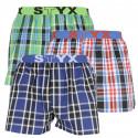 3PACK pánské trenky Styx sportovní guma vícebarevné (B83203739)