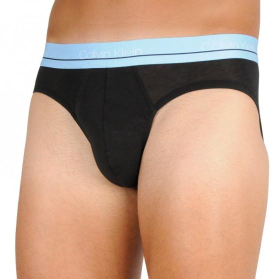 3PACK pánské slipy Calvin Klein černé (NB2415A-T6D)