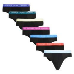 7PACK pánské slipy CK ONE černé (NB2859A-JVO)