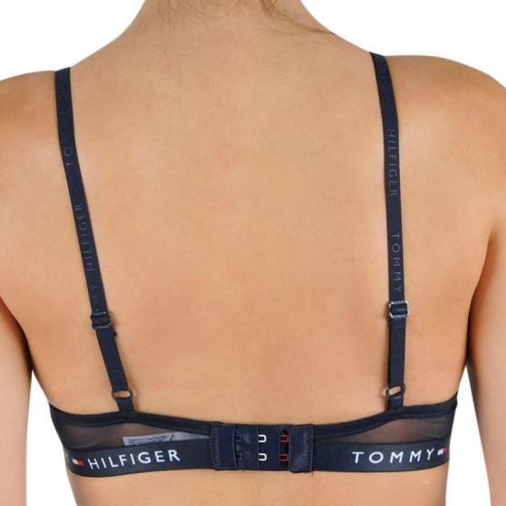 Dámská podprsenka Tommy Hilfiger vyztužená s kosticemi tmavě modrá (UW0UW00045 416)