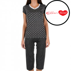 Dámské pyžamo Cocoon Secret černé (COC3046-KK)