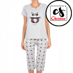 Dámské pyžamo Christina secret šedé (CHR-Y-1261)