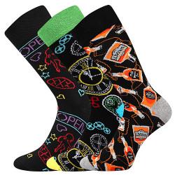 3PACK veselé ponožky Lonka vícebarevné (Debox mix A)
