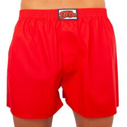 Pánské trenky Styx klasická guma nadrozměr červené (E1064)
