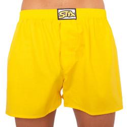 Pánské trenky Styx klasická guma nadrozměr žluté (E1068)