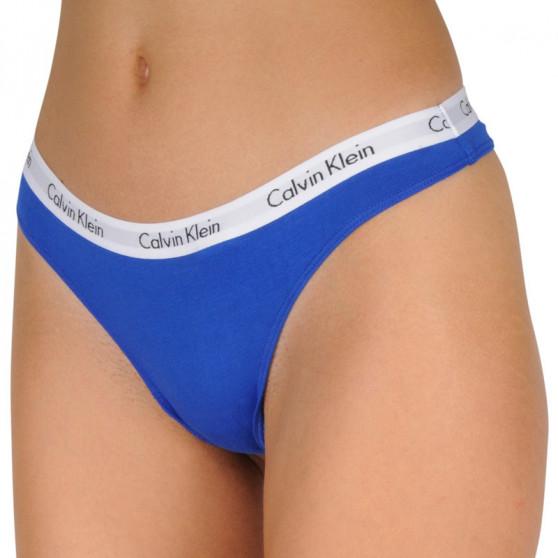 3PACK dámská tanga Calvin Klein nadrozměr vícebarevné (QD3800E-W5N)