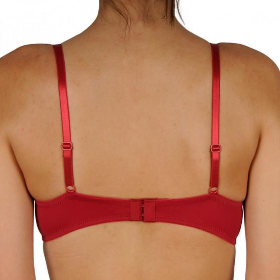 Dámská podprsenka Gina vyztužená s kosticemi červená (17004)