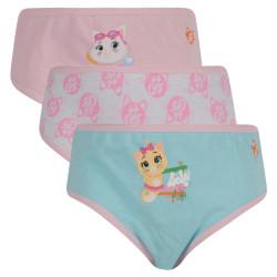 3PACK dívčí kalhotky E plus M 44 Cats vícebarevné (44-CATS)