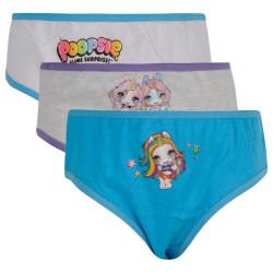 3PACK dívčí kalhotky E plus M Poopsie vícebarevné (POP-009)