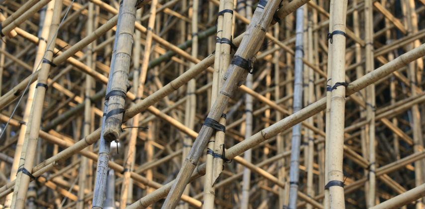 bambusové lešení