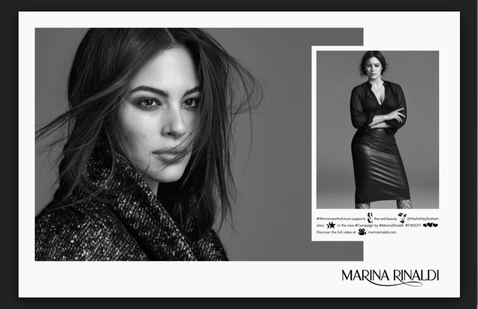 Ashley Graham pro Marina Rinaldi.