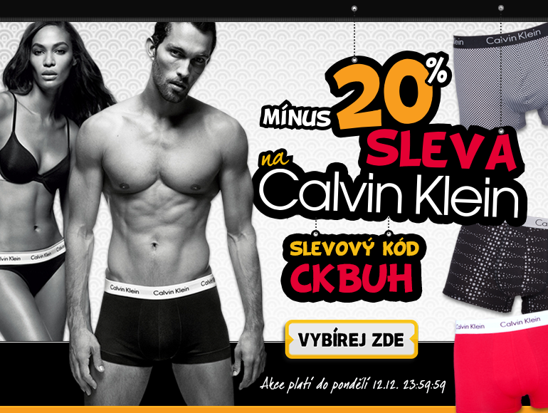 20% sleva na Calvin Klein
